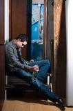 Hombre borracho fotografía de archivo