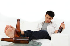 Hombre borracho Imágenes de archivo libres de regalías