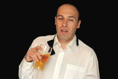 Hombre borracho con la bebida fotos de archivo