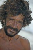 Hombre brasileño de la pesca Imagen de archivo