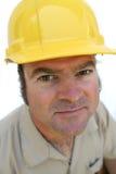 Hombre cómodo del sombrero duro Foto de archivo