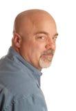 Hombre calvo aislado Imagen de archivo libre de regalías