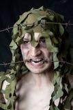 Hombre camuflado militar Fotografía de archivo