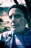Hombre canoso, enfermo Foto de archivo libre de regalías