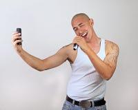 Hombre cantante Fotografía de archivo libre de regalías