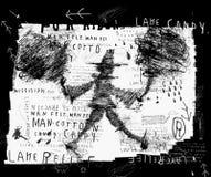 Hombre - caramelo de algodón Imágenes de archivo libres de regalías