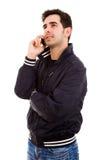 Hombre casual joven en el teléfono Imagen de archivo libre de regalías