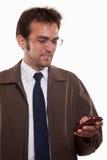 Hombre caucásico atractivo joven en traje del asunto Imagenes de archivo