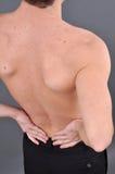 Hombre caucásico joven con dolor Fotografía de archivo