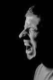 Hombre caucásico joven que grita Fotografía de archivo libre de regalías