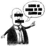 Hombre censurado Imagen de archivo libre de regalías
