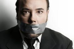 Hombre censurado Fotos de archivo