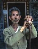 Hombre chino de reclinación Fotografía de archivo