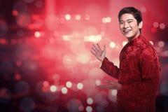 Hombre chino en traje del cheongsam Fotos de archivo