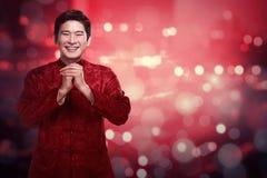 Hombre chino en traje del cheongsam Imágenes de archivo libres de regalías