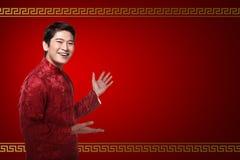 Hombre chino en traje del cheongsam Fotografía de archivo
