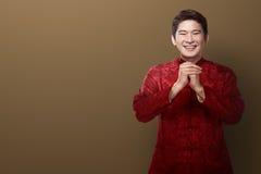 Hombre chino en traje del cheongsam Imagen de archivo libre de regalías