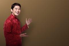 Hombre chino en traje del cheongsam Fotografía de archivo libre de regalías