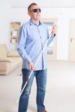 Hombre ciego Fotos de archivo libres de regalías
