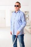 Hombre ciego Imagenes de archivo