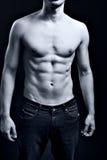 Hombre con ABS rasgado muscular atractivo Foto de archivo