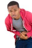 Hombre con dolor de estómago Fotografía de archivo libre de regalías