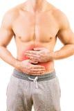 Hombre con dolor de estómago Imagen de archivo