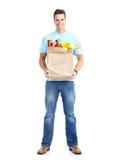 Hombre con el alimento fotos de archivo