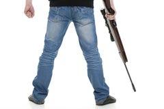 Hombre con el arma Imágenes de archivo libres de regalías