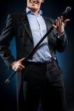Hombre con el bastón Foto de archivo