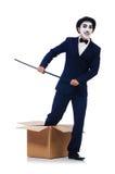 Hombre con el bastón foto de archivo libre de regalías