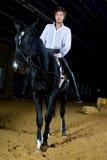 Hombre con el caballo Foto de archivo libre de regalías