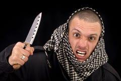 Hombre con el cuchillo Imágenes de archivo libres de regalías