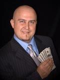 Hombre con el dinero Fotografía de archivo