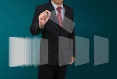 Hombre con el indicador digital Imagen de archivo libre de regalías