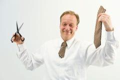 Hombre con el lazo del corte Fotos de archivo libres de regalías