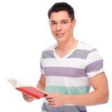Hombre con el libro fotos de archivo