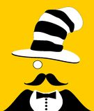 Hombre con el monóculo y el sombrero divertido Imágenes de archivo libres de regalías