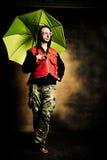 Hombre con el paraguas foto de archivo libre de regalías