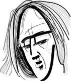 Hombre con el pelo largo Imagen de archivo libre de regalías