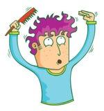 hombre con el pelo rizado ilustración del vector