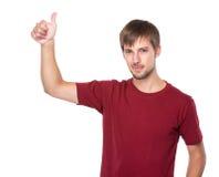 Hombre con el pulgar para arriba Imagen de archivo libre de regalías
