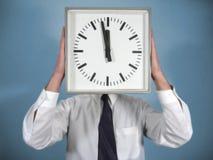Hombre con el reloj Imagen de archivo