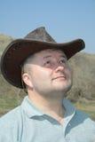 Hombre con el sombrero de vaquero Foto de archivo libre de regalías