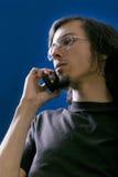 Hombre con el teléfono Imagenes de archivo