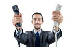 Hombre con el teléfono aislado imágenes de archivo libres de regalías