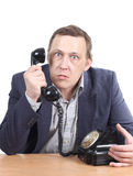 Hombre con el teléfono Fotos de archivo libres de regalías