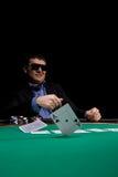Hombre con estilo del póker Fotos de archivo