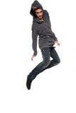Hombre con estilo joven en el aire Fotografía de archivo libre de regalías