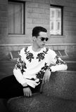 Hombre con estilo joven outdoor Imagen de archivo